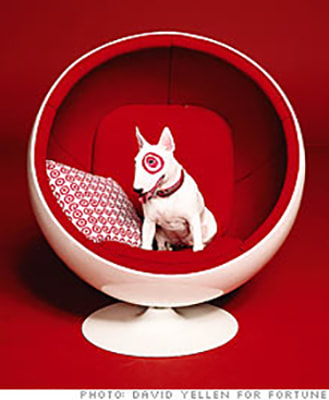 Fortune 500 cover. Target dog - painted ring around eye