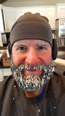 Ice beard made of frosting (last minute director request for U Care commerical)